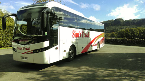 Sims luxury coach travel
